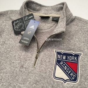 adidas NHL NY Rangers Men's 1/4 Zip Pullover XL